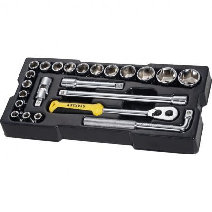 "STANLEY Set module 23 pcs socket wrenches - 1/2"" - 1"