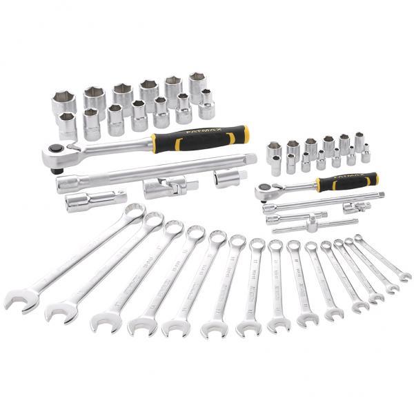 "STANLEY Set 49 pcs Fatmax® socket wrench - 1/4"" + 1/2"" + combination keys - 1"