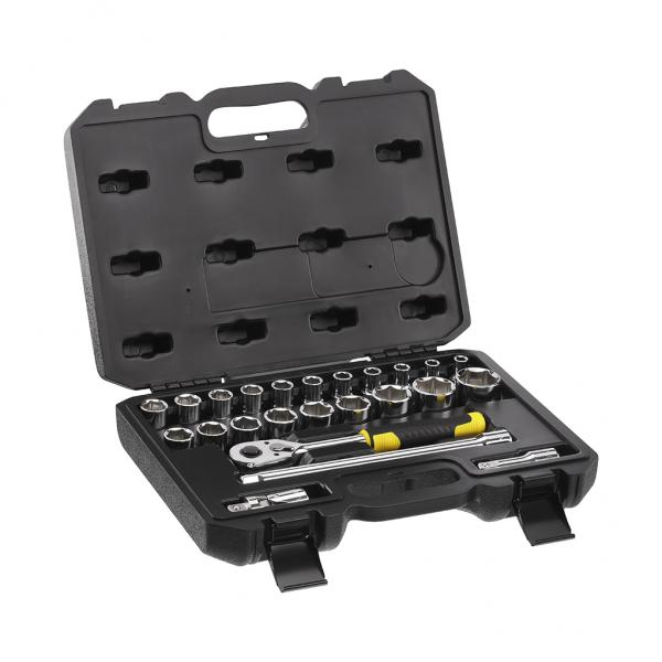 """STANLEY Set of 24 pcs socket wrenches - 1/2"""" - 1"""