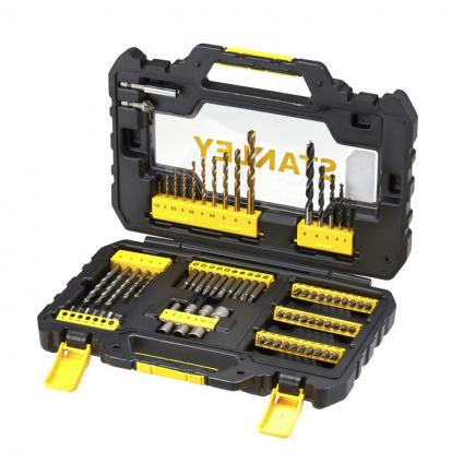 STANLEY Set of 76 bits/drills - 1