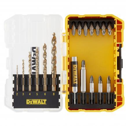 DeWALT Set of 19 pieces for screwing and drilling metals  (5 pcs) - 1