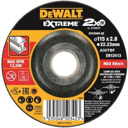 DeWALT Extreme abrasive disk for metal cutting diameter 355x25, 4x3m - 1