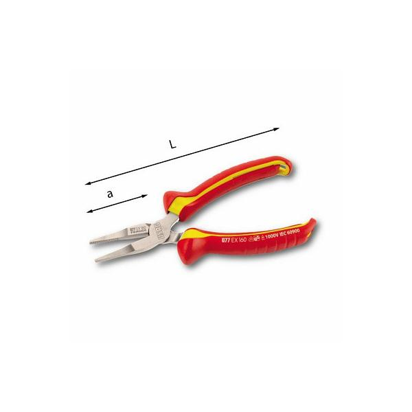 USAG FLAT EXTRA-LONG NOSE PLIERS WITH STRAIGHT JAWS - 1000 V - 1