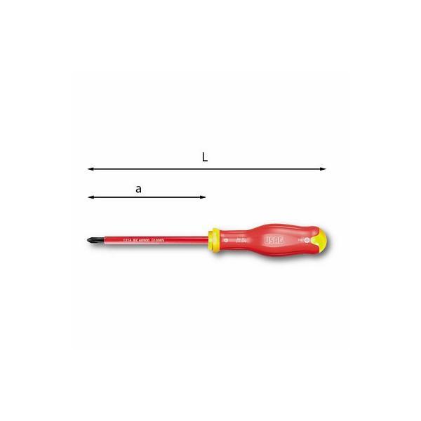 USAG SCREWDRIVERS FOR PHILLIPS® SCREWS - 1000 V - 1