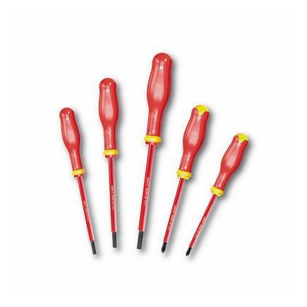 USAG SET OF 5 SCREWDRIVERS FOR SLOT-HEAD AND PHILLIPS® SCREWS - 1000 V - 1