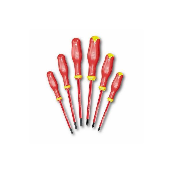 USAG SET OF 6 SCREWDRIVERS FOR SLOT-HEAD AND PHILLIPS® SCREWS - 1000 V - 1