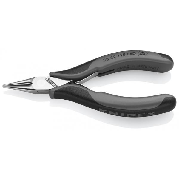 KNIPEX Electronics Pliers ESD head mirror polished, handles with multi-component grips - 1