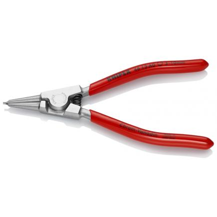 KNIPEX Circlip Pliers for external circlips on shafts chrome plated, handles plastic coated straight tips - 1