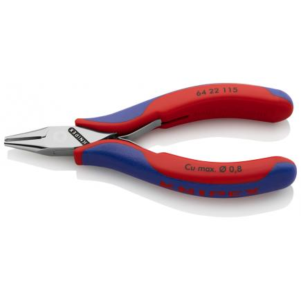 KNIPEX Electronics End Cutting Nipper head mirror polished, handles with multi-component grips, mini-blade - 1