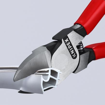 KNIPEX Diagonal Cutter for plastics head polished, handles plastic coated - 1