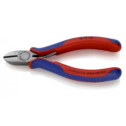 KNIPEX Diagonal Cutter for electromechanics head polished, handles with multi-component grips - 1