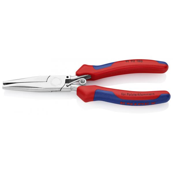 KNIPEX Upholstery Pliers mirror-polished, handles with multi-component grips - 1