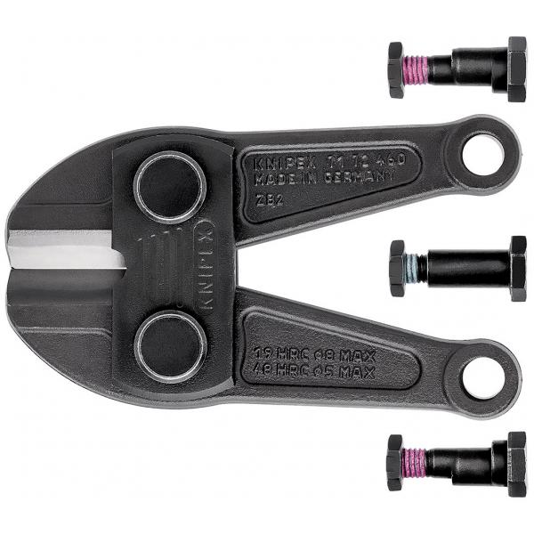 KNIPEX Spare cutter head for 71 72 460 complete with screws - 1