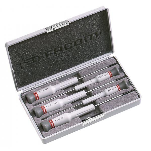 FACOM Micro-Tech® 5-piece screwdriver slotted head - 1