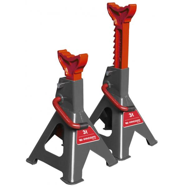 FACOM PAIR OF 3 T AXLE STANDS - 1