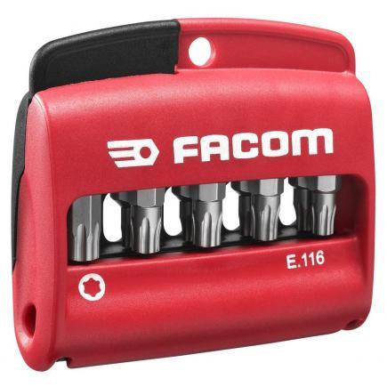 "FACOM Combined set of 10 Torx Plus® bits 1/4"" - 25 mm + bit holder - 1"