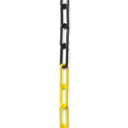 FACOM Safety zone marker chain - black and yellow links - 1