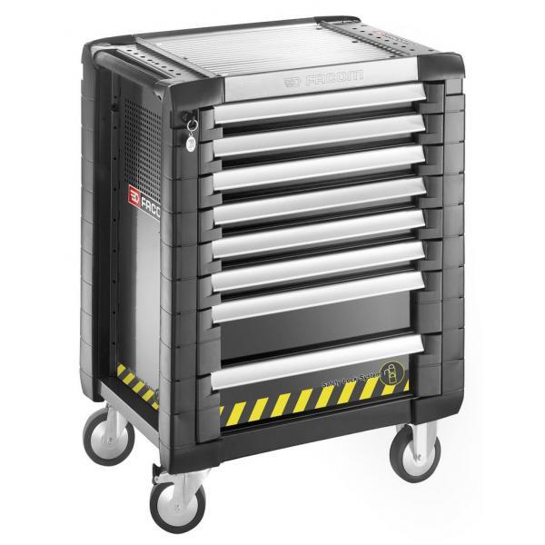 FACOM JET+ 8-drawer roller cabinets - 3 modules per drawer - safety range - 1