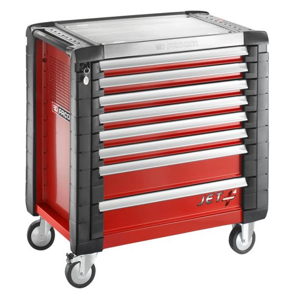 FACOM JET+ 8-drawer roller cabinets - 4 modules per drawer - 1