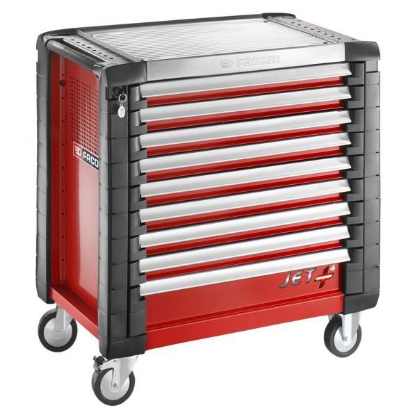 FACOM JET+ 9-drawer roller cabinets - 4 modules per drawer - 1