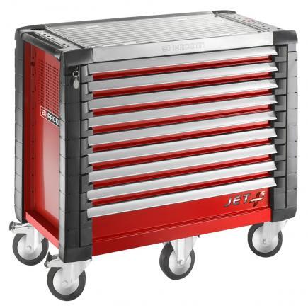 FACOM JET+ 9-drawer roller cabinets - 5 modules per drawer - 1