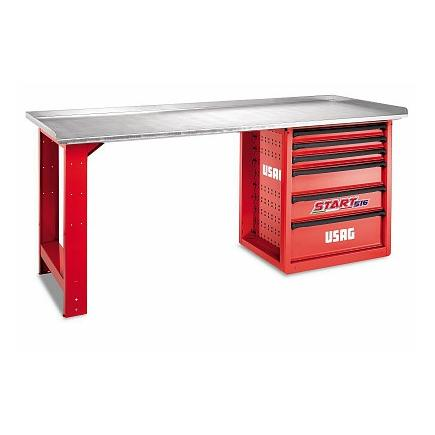 Swell Usag U05160021 516 Spc2 Start Workbench With Stainless Sheet Steel Top 6 Drawers Beatyapartments Chair Design Images Beatyapartmentscom