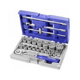 """EXPERT 1/2"""" socket and accessory set metric 22 pieces - 1"""