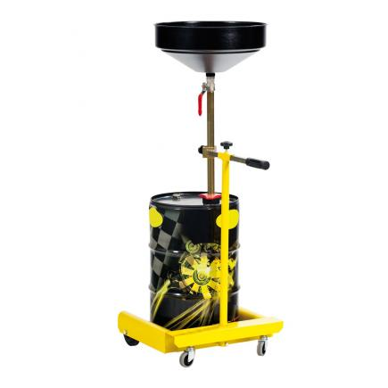 MECLUBE Wheeled exhausted oil drain unit suitable for drums 50–60 l - 1