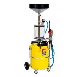 MECLUBE Air operated suction drainer for exhausted oil 65 l with pre chamber - 1