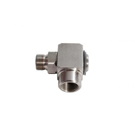 """MECLUBE Swivelling joint 90° WATER 150°C–400 bar F 3/8""""G - 1"""