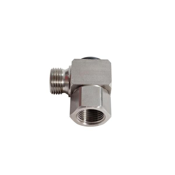 """MECLUBE Swivelling joint 90° WATER 150°C–400 bar F 1/2""""G - 1"""