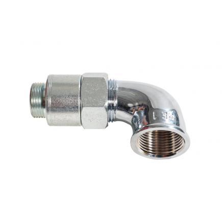 "MECLUBE Swivelling joint 90° DIESEL 10 bar F 1""G - 1"