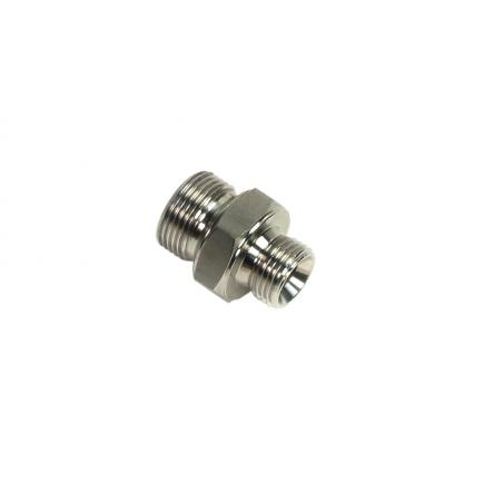 """MECLUBE Stainless steel nipple AISI 304 M1/2""""G – M1/2""""G - 1"""