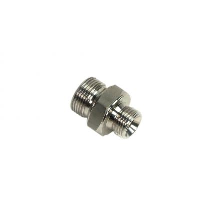 """MECLUBE Stainless steel nipple AISI 304 M1""""G – M1""""G - 1"""