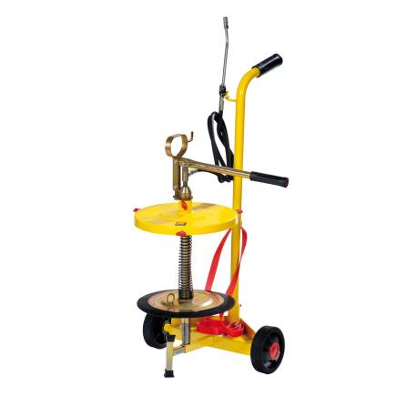 MECLUBE Wheeled manual grease pump for drums of 18 30 kg - 1