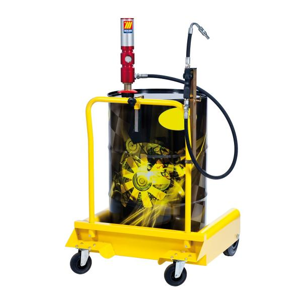MECLUBE Wheeled oil set suitable for barrels of 180 220 l Delivery capacity 30 l/min - 1