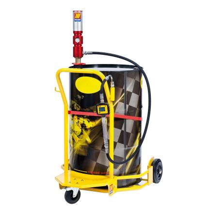 MECLUBE Wheeled oil set suitable for barrels of 180–220 l Delivery capacity 28 l/min - 1