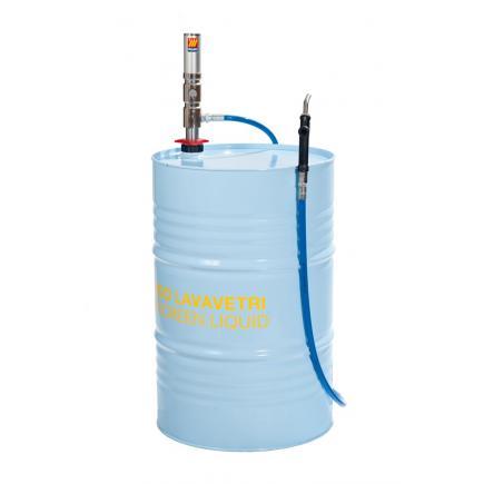 """MECLUBE Set for windscreen liquid for barrels of 180 220 l R6 1/2"""" M F hose 3,0 m length - 1"""