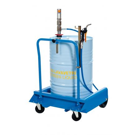 MECLUBE Wheeled set for windscreen liquid for barrels of 180 220 l - 1