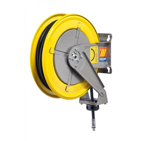MECLUBE Hose reel fixed FOR AIR WATER 20 bar Mod. F 400 WITH HOSE R6 10 m ø 3/8 - 1