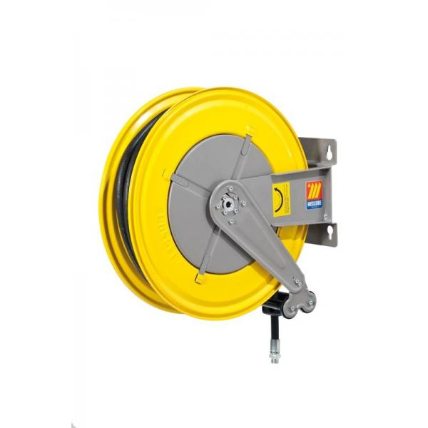 MECLUBE Hose reel fixed FOR AIR WATER 20 bar Mod. F 550 WITH HOSE R6 20 m ø 1/2 - 1