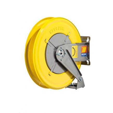 "MECLUBE Hose reel fixed FOR WATER 150° C 200/400 bar Mod. F 460 WITHOUT HOSE Inlet Outlet M3/8""G M3/8""G - 1"