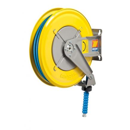 MECLUBE Hose reel fixed FOR WATER 150° C 200 bar Mod. F 460 WITH HOSE 20m - 1