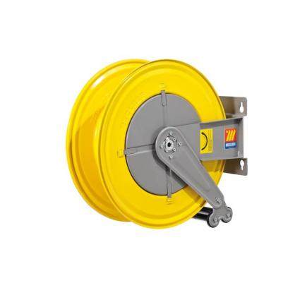 "MECLUBE Hose reel fixed FOR WATER 150° C 200/400 bar Mod. F 555 WITHOUT HOSE Inlet Outlet M3/8""G M3/8""G - 1"