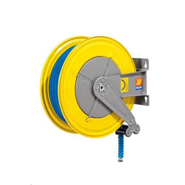 MECLUBE Hose reel fixed FOR WATER 150° C 200 bar Mod. F 555 WITH HOSE 25 m ø 1/2 - 1