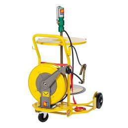 MECLUBE Wheeled grease set suitable for barrels 180–220 kg with hose reel - 1