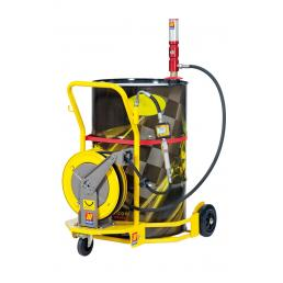 MECLUBE Wheeled oil set suitable for barrels of 180– 220 l - 1