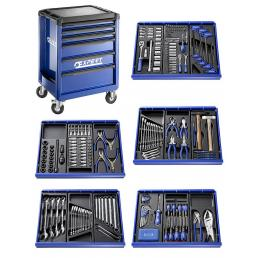 EXPERT X285 tool cart, 7 drawers, with 285 tools (3 modules) - 1
