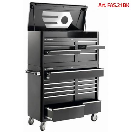 FACOM American Style 21 Drawer Roller Cabinet & Top Chest Stack - 1