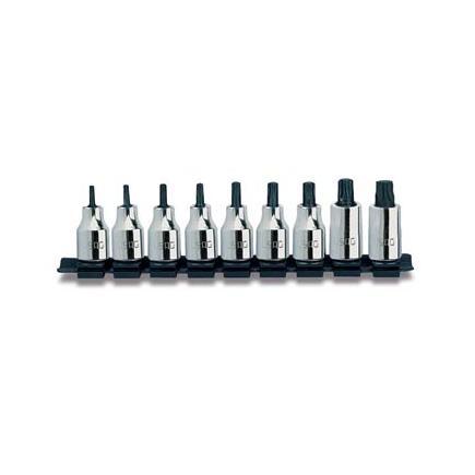 """USAG Set of 9 1/2""""socket bits for TORX® screws - 1"""